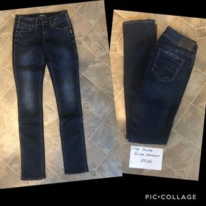 Silver Elyse Straight Jeans Tall